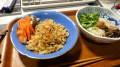本日のメシテロ・焼き飯とサラダ煮麺